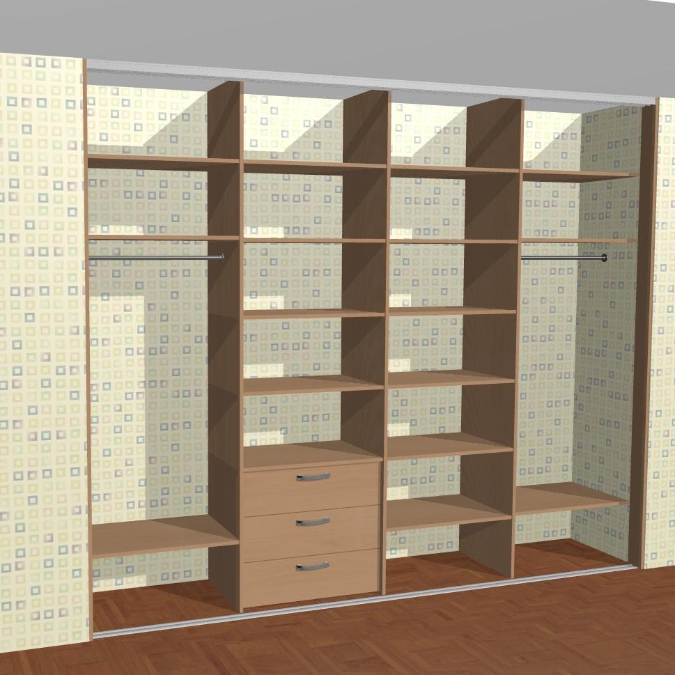 схема шкаф-купе расчет