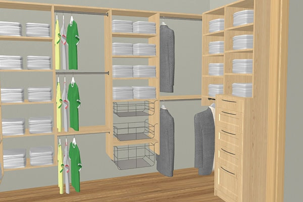 Online 3D Closet Planner For Home Design The Walk In Of Your