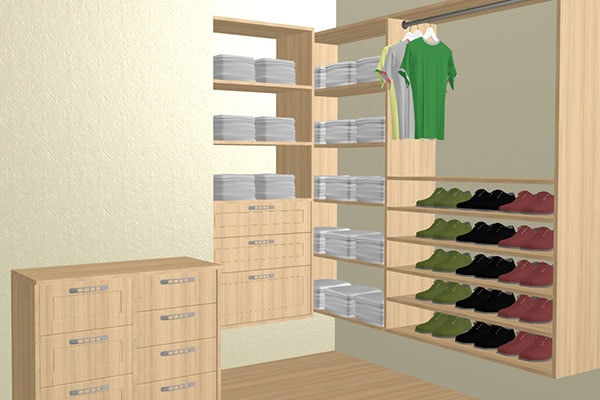 Online 3d closet planner for home design the walk in of for Design your own walk in closet