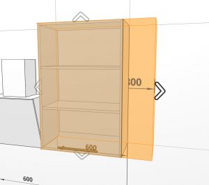 It is now possible to change cabinet sizes directly on the